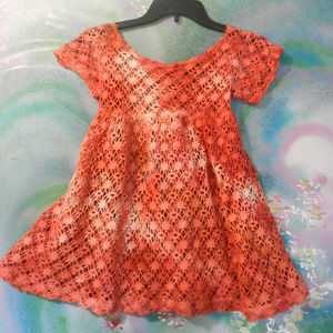 OOAK Vtg custom Tdye cotton lace tatted tunic top
